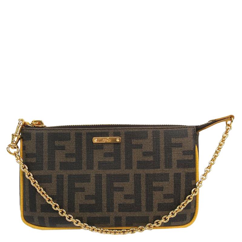 850764442b ... cheap fendi tobacco zucca canvas mini pochette bag buy sell lc 104e4  b5ac9 italy fendi kan i large leather shoulder bag in black ...