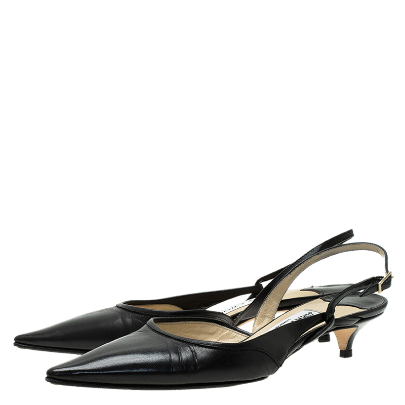 Black Slingback Shoes Size