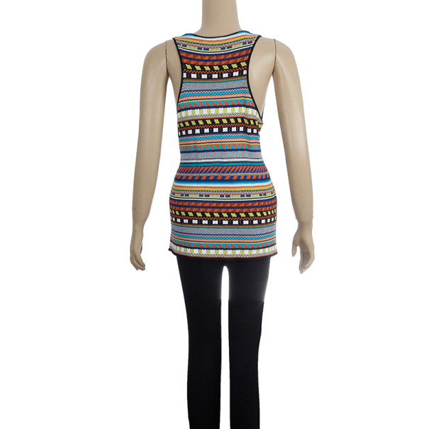 Emilio Pucci Printed Sleeveless Top L