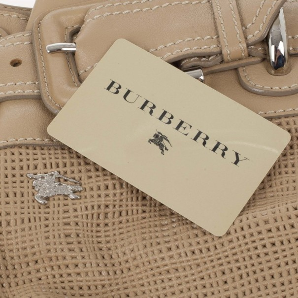 Burberry Brown Leather Beaton Bag