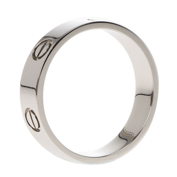 Cartier Love Platinum Ring Size 61