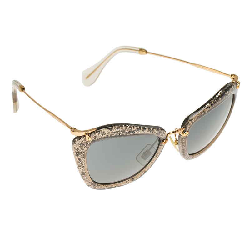 Miu Miu Grey Glitter Sunglasses   David Simchi-Levi 7e9a8d793d