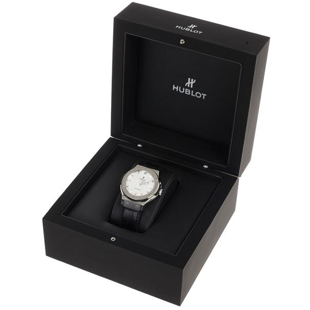 Hublot White Titanium Classic Fusion Unisex Wristwatch 38MM