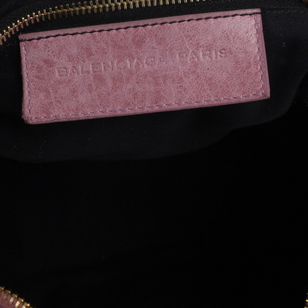 Balenciaga Pink Lambskin Giant Work