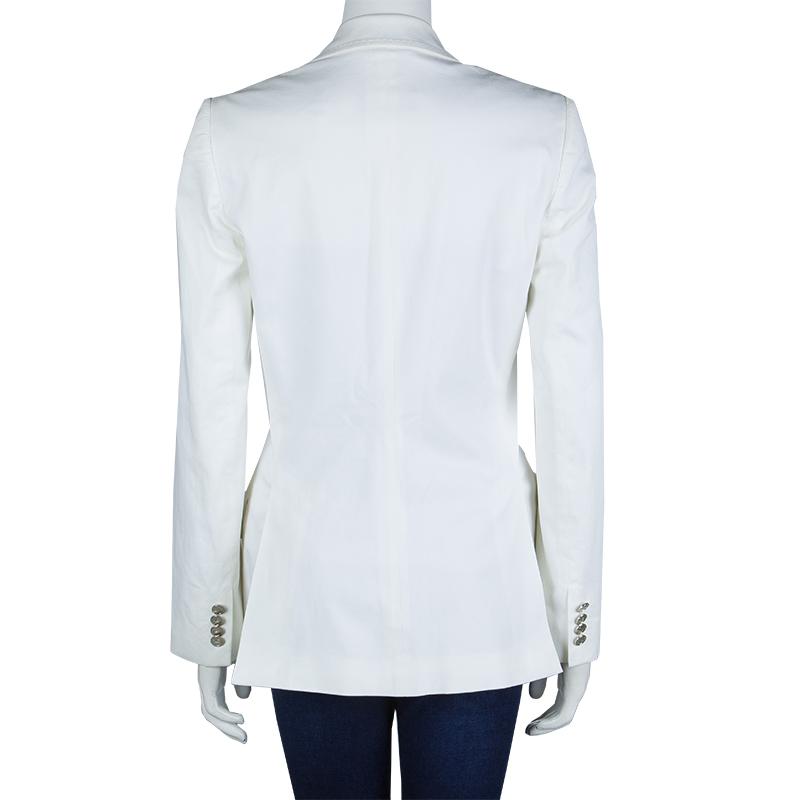 Dolce and Gabbana Classic White Blazer M