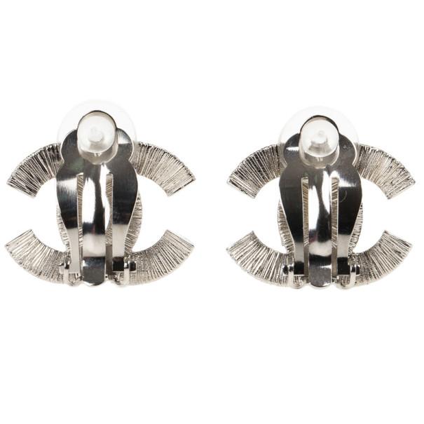 Chanel CC Crystal Earrings