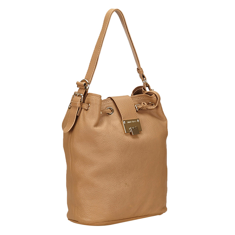 Jimmy Choo Brown Leather Shoulder Bag  - buy with discount