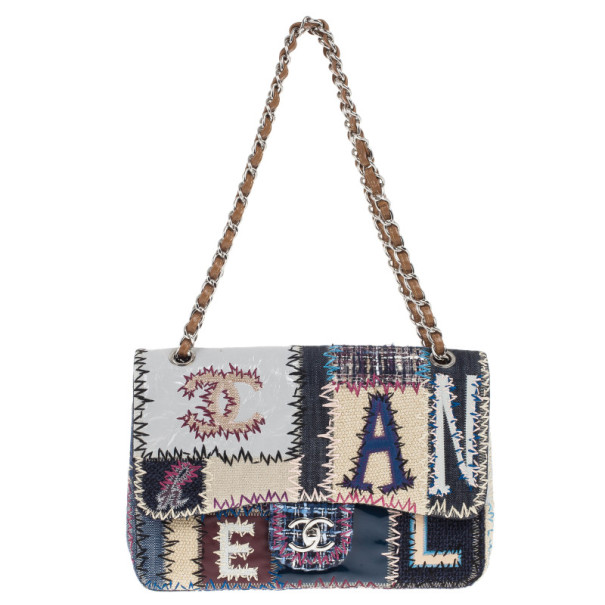 Chanel Multiclor Leather Patchwork Jumbo Classic Flap Bag