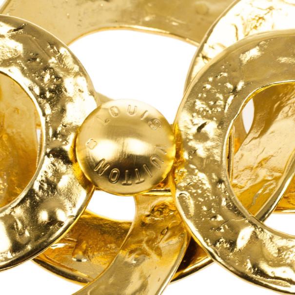 Louis Vuitton Martelé Gold Tone Bracelet 19CM