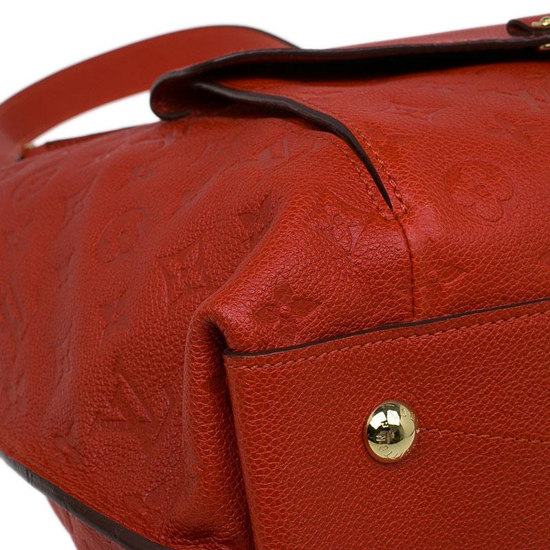 Louis Vuitton Red Monogram Leather Metis Empreinte Hobo Bag