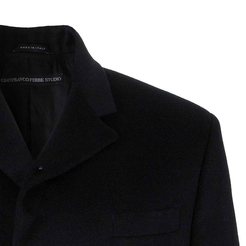 Gianfranco Ferre Men's Black Cashmere Long Coat XXL