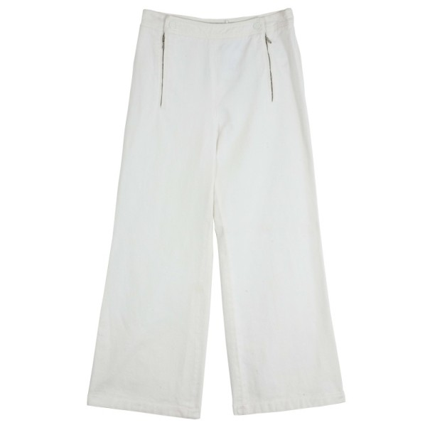 Chanel Cream Denim Culottes M