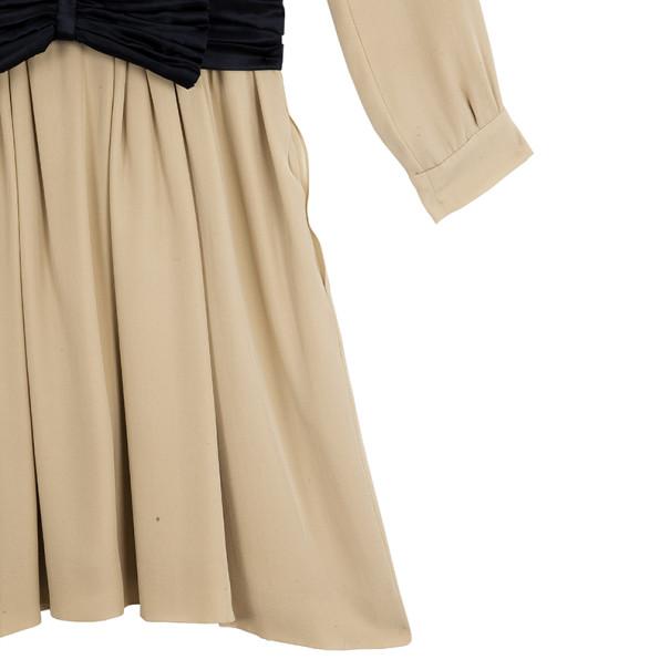 Chloe Bow Gathered Silk Dress M