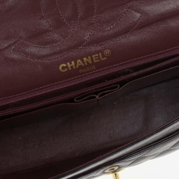 Chanel Black Lambskin Vintage Medium Flap Bag