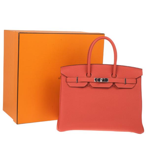 Hermes Geranium Birkin Bag 35