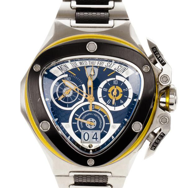 tonino lamborghini blue stainless steel spider 3001 men s tonino lamborghini blue stainless steel spider 3001 men s wristwatch