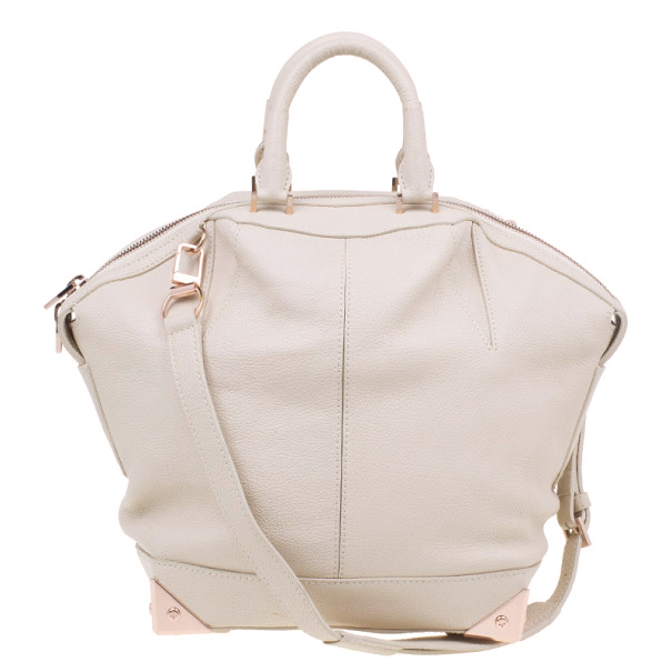 Alexander Wang Beige Leather Large Emile Tote