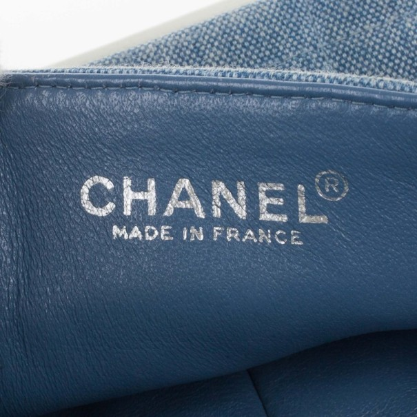 Chanel Blue Denim Chocolate Bar Medium East-West Bag
