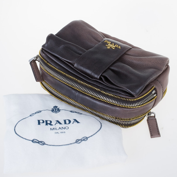 Prada Leather Cosmetic Pouch