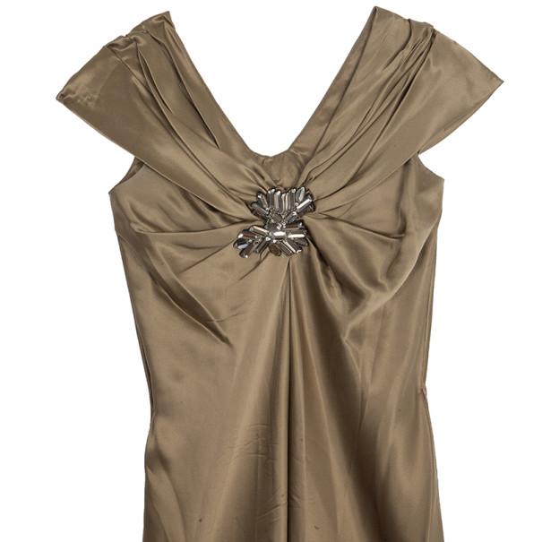 Vera Wang Satin Bustier Dress M