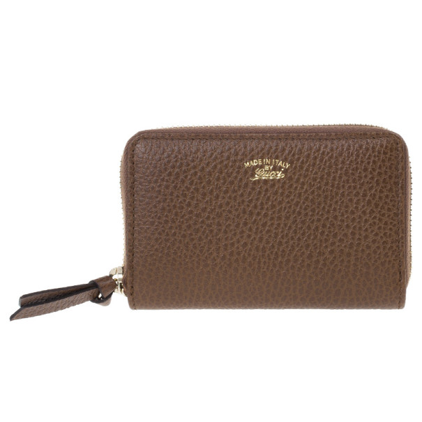 Gucci Brown Leather Swing Card Case