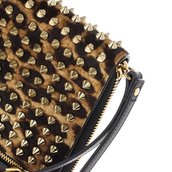 Christian Louboutin Leopard Pony Hair Cris Spiked iPad Case