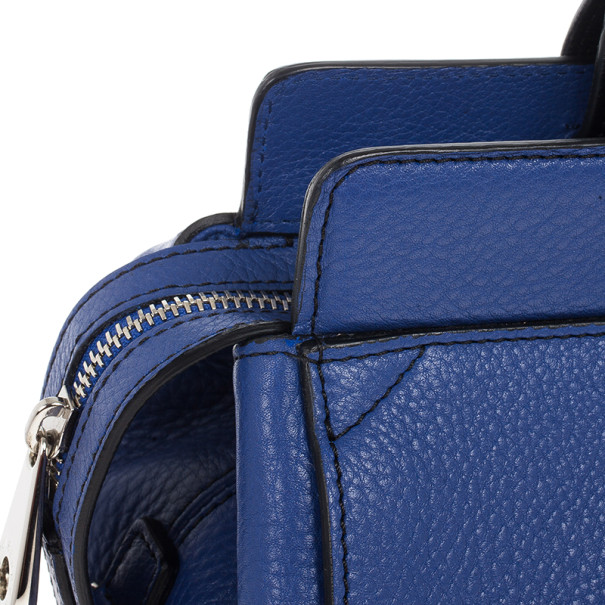 Mulberry Blue Leather Blenheim Shoulder Bag