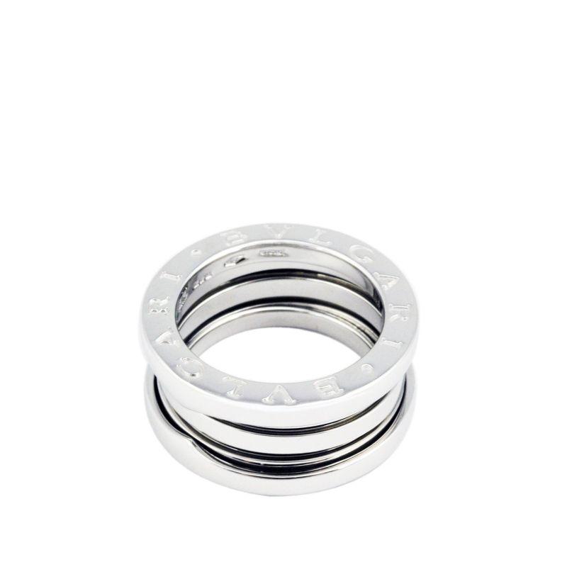 Bvlgari B.Zero1 18K White Gold 3 Band Ring Size 48