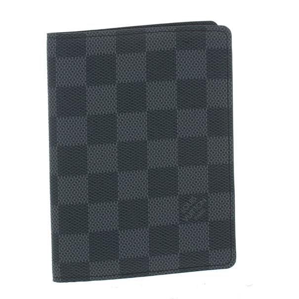 Louis Vuitton Damier Graphite Passport Holder