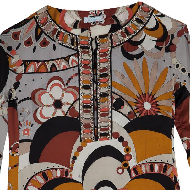 Emilio Pucci Printed Silk Shirt S