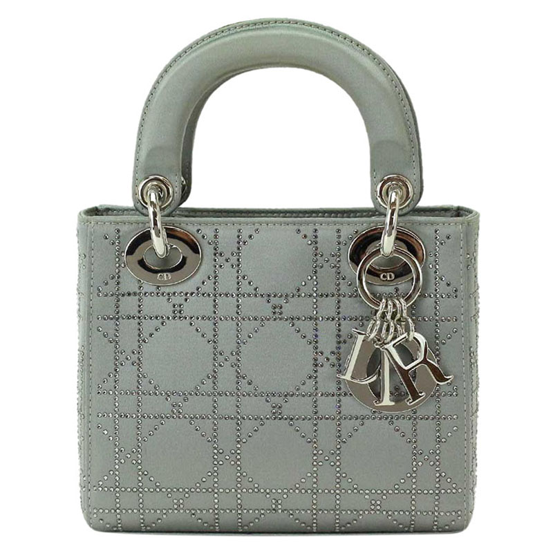 ... Cannage Quilted Satin Rhinestone Micro Lady Dior Tote. nextprev.  prevnext