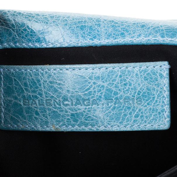 Balenciaga Blue Arena Giant Envelope Clutch