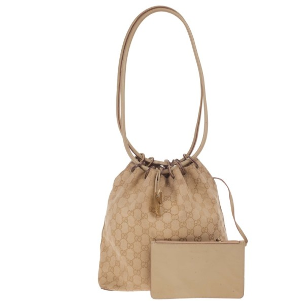 Gucci GG Monogram Canvas Bucket Bag