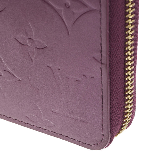 Louis Vuitton Purple Monogram Vernis Zippy Wallet