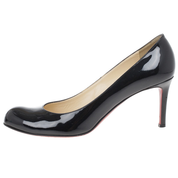 Christian Louboutin Black Patent Simple Pumps Size 40.5