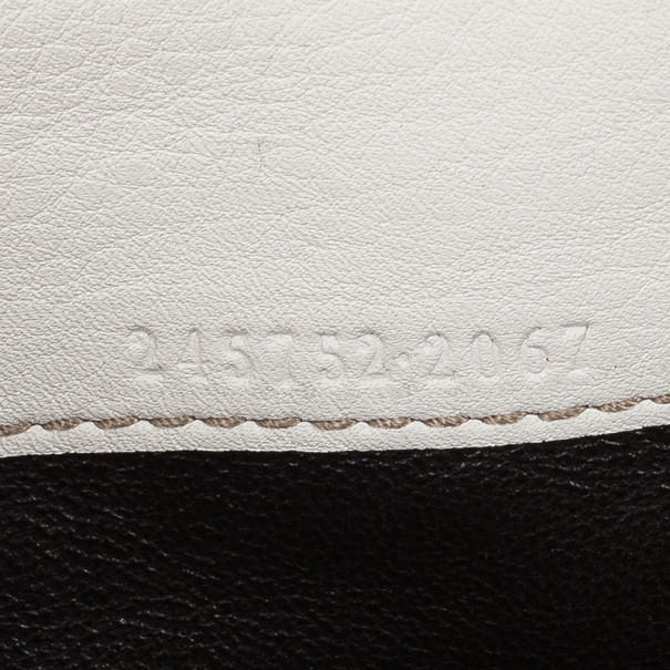 Gucci White Horsebit and Web Detail Continental Wallet