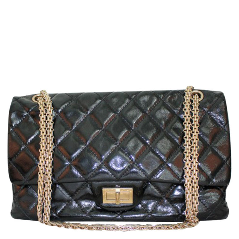 8a36e33d96301f ... Chanel Black Quilted Patent Leather 227 Reissue 2.55 Flap Bag.  nextprev. prevnext