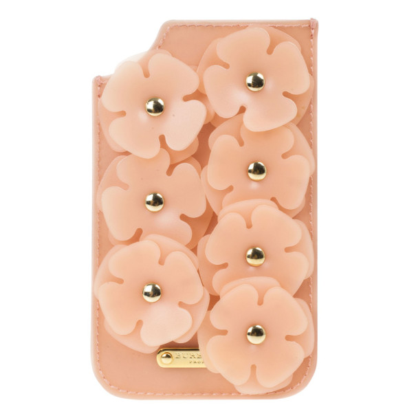 Burberry Prorsum Pink Flower Embellished Silicone iPhone 5/5S Case