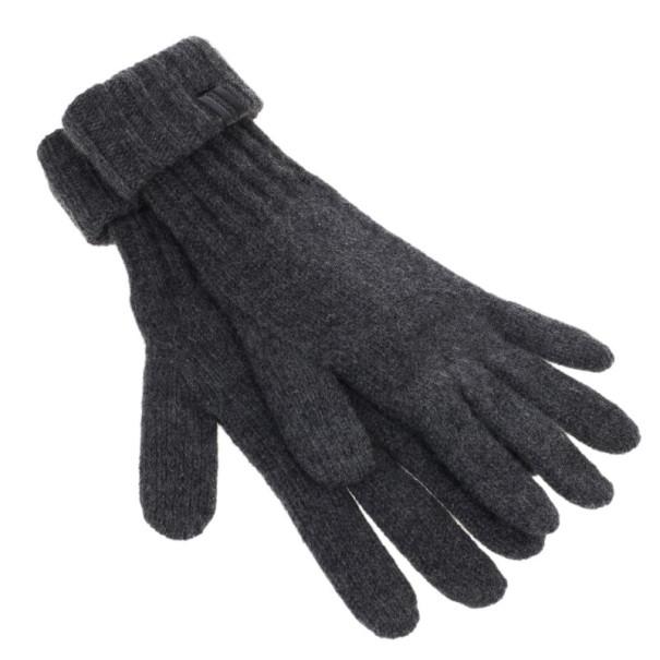 Giorgio Armani Large Grey Cashmere Gloves L
