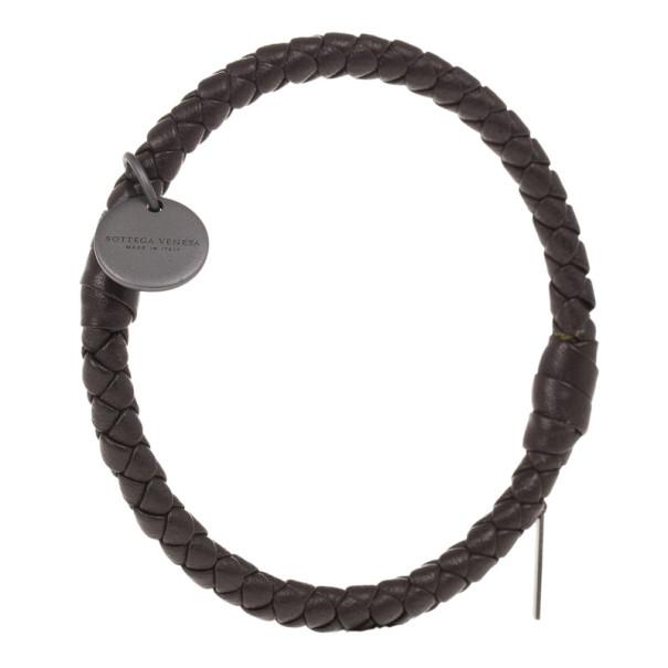 Bottega Veneta Intrecciato Nappa Dark Brown Bracelet S