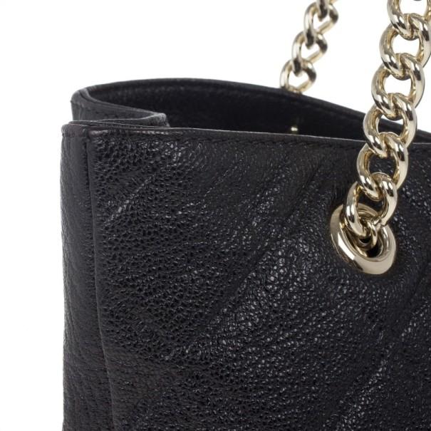 Carolina Herrera Black Quilted Shopper Tote