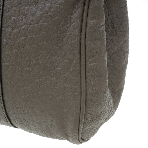 Mulberry Taupe Soft Croc Printed Bayswater Satchel
