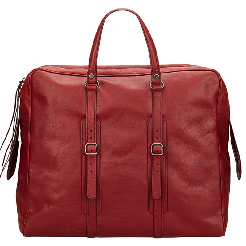 6994065b76 Buy Balenciaga Red Leather Travel Bag 118968 at best price