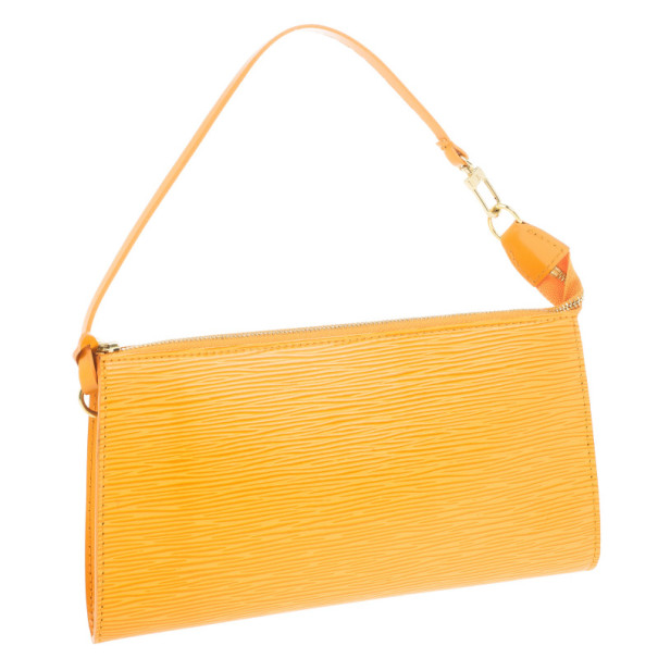 Louis Vuitton Orange Epi Pochette