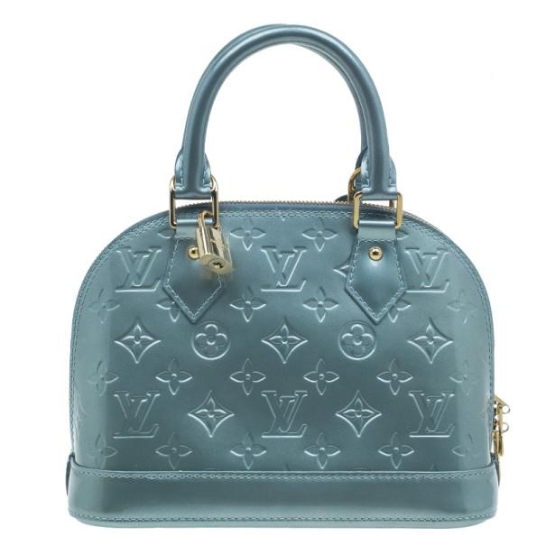 Louis Vuitton Bleu Lagon Monogram Vernis Alma BB