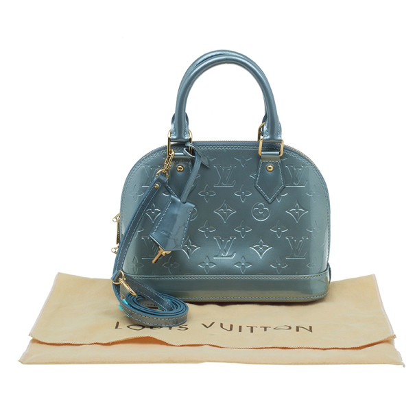Louis Vuitton Bleu Lagon Monogram Vernis Alma BB