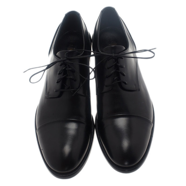 Louis Vuitton Glazed Leather Diplomacy Derby Oxfords Size 37.5