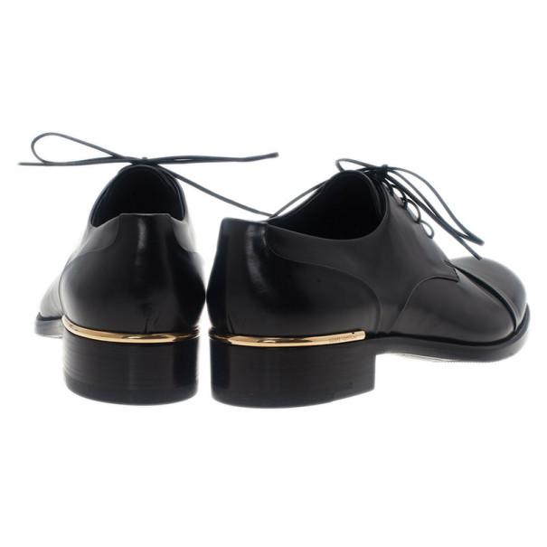 Louis Vuitton Glazed Leather Diplomacy Derby Oxfords Size 37.5