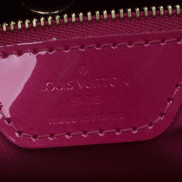 Louis Vuitton Pink Monogram Vernis Wilshire Satchel PM