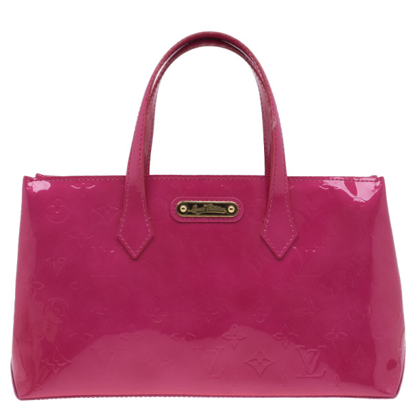Louis Vuitton Pink Monogram Vernis Wilshire Satchel PM